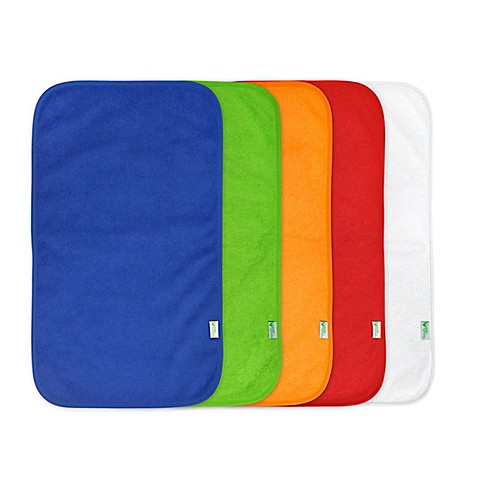 green sprouts® by i play.® 5-Pack Waterproof Absorbent Boys Terry Burp Pad
