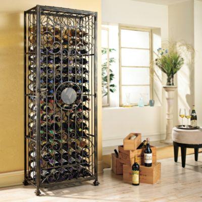Wine Enthusiast 96-Bottle Antiqued Steel Wine Jail