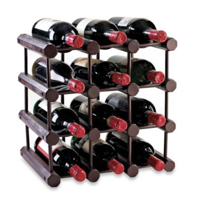 Modular 12-Bottle Wood Wine Rack