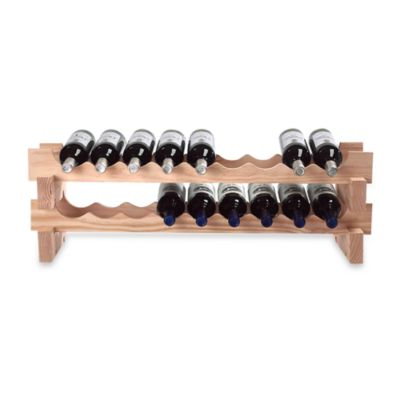18-Bottle Stackable Wine Rack Kit