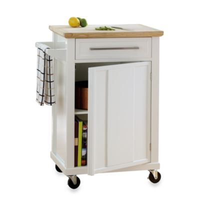 Real Simple® Rolling Kitchen Cart in Black
