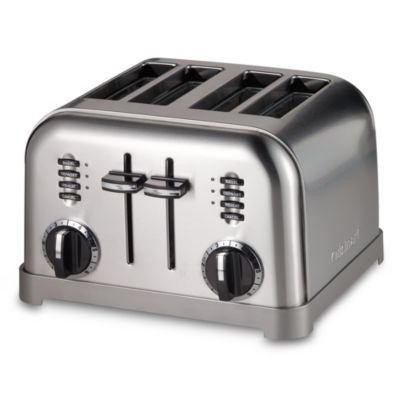 Black Stainless Steel 4 Slice Toaster