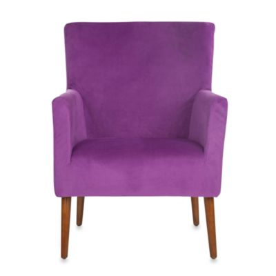 Safavieh Everett Arm Chair in Purple