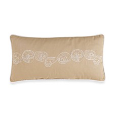 Coastal LIfe Lux Sandcastle Khaki Oblong Toss Pillow