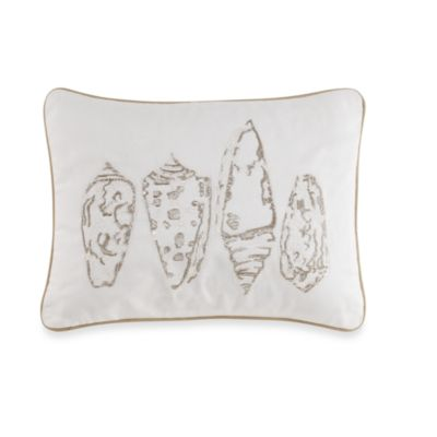 Coastal LIfe Lux Sandcastle Seashell Oblong Toss Pillow