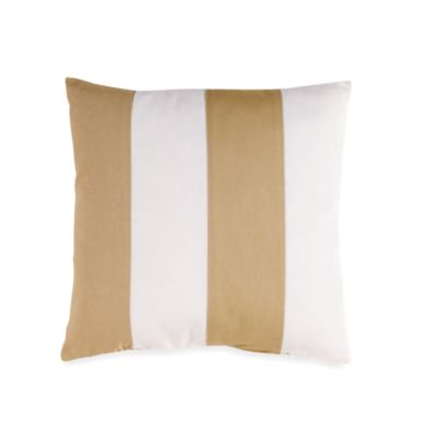 Coastal LIfe Lux Sandcastle Striped Square Toss Pillow