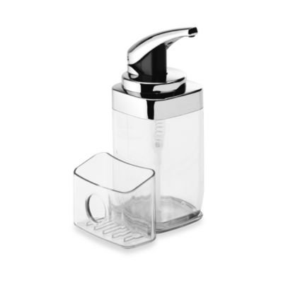 simplehuman® 22-Fluid Ounce Square Push Dish Soap Pump with Caddy