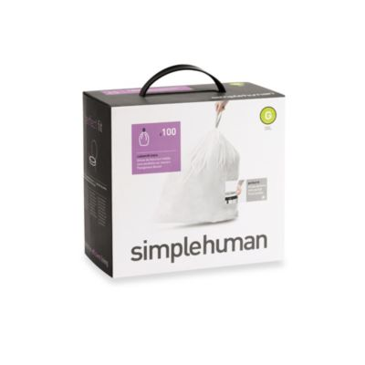 simplehuman® Code G Perfect Fit 30-Liter Can Liners (100-Pack)