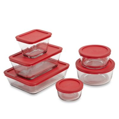 12-Piece Glass Food Storage Set