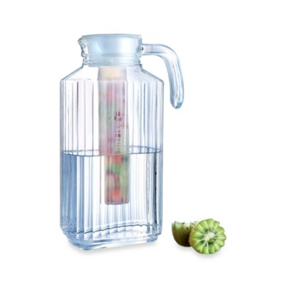 Luminarc Quadro 1.7-Liter Glass Jug with Infuser