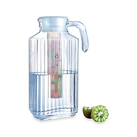 Luminarc® Quadro 1.7-Liter Glass Jug with Infuser