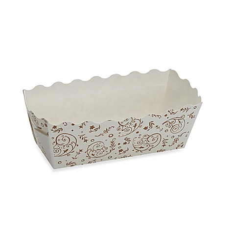 Rectangular Mini Loaf Baking Pans in Brown Blossom (Set of 6)