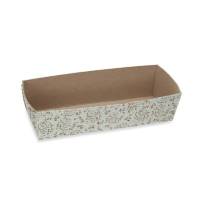 Rectangular Loaf Baking Pans in Brown Blossom (Set of 6)
