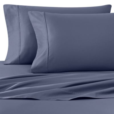 Wamsutta® 400 Thread Count Queen Sheet Set in Blue Jean