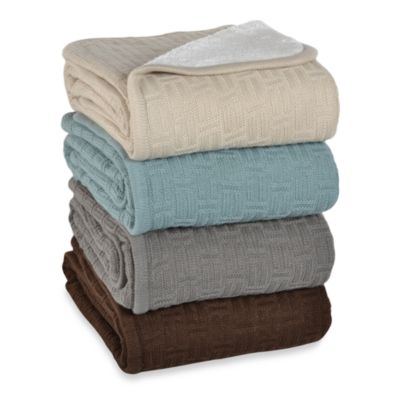 Berkshire Blanket® Timeless Comfort™ Reversible Throw in Blue