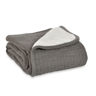 Berkshire Blanket® Timeless Comfort™ Reversible Throw in Grey