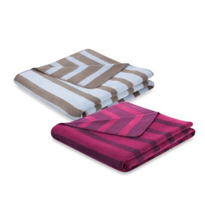 Bocasa French Stripes Throw Blanket