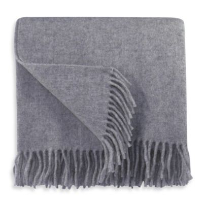 Bocasa Plaid Throw in Silver