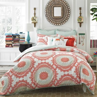 Anthology™ Bungalow 3-Piece Reversible Full/Queen Comforter Set in Coral