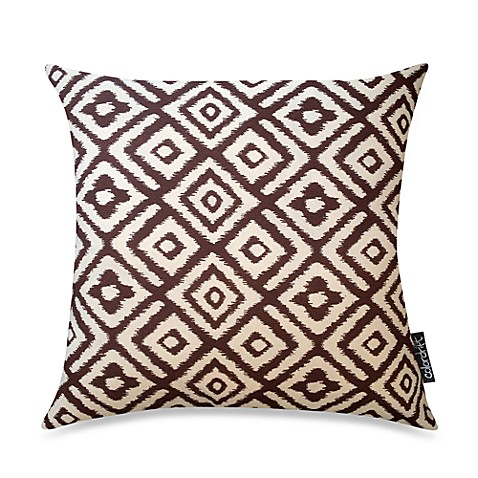 Diamond Recycled 20-Inch Square Throw Pillow in Brown
