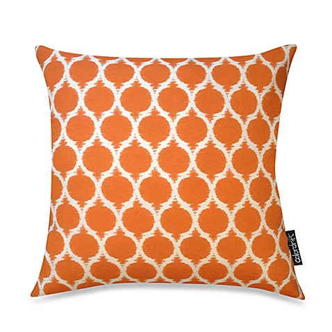 Moroccan Recycled 20-Inch Square Throw Pillow in Orange