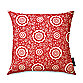 Barcelona Geometric Cherry Toss Pillow