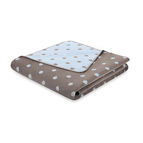 Bocasa Softly Dots Throw Blanket in Baby Blue