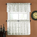 Palm Burnout Linen Window Valance