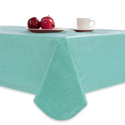 Monterey 60-Inch Round Vinyl Tablecloth in Natural