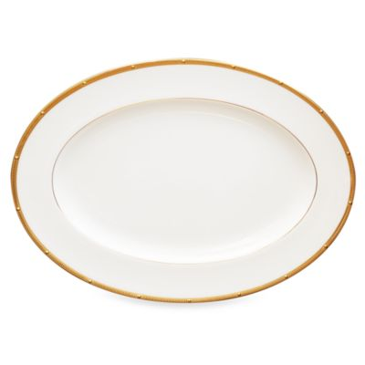Noritake® Rochelle Gold 14-Inch Oval Platter