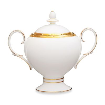Noritake® Rochelle Gold Covered Sugar Bowl