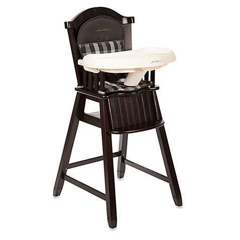 Eddie Bauer Wood High Chair in Evergreen