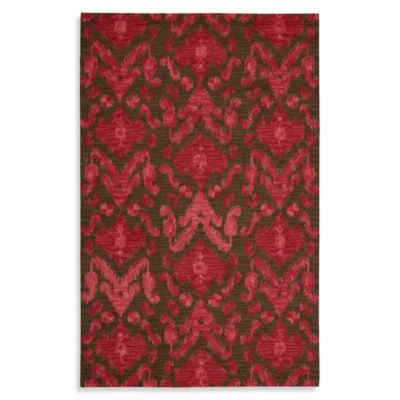 Nourison Siam 5-Foot 6-Inch x 7-Foot 5-Inch Area Rug in Brown/Red