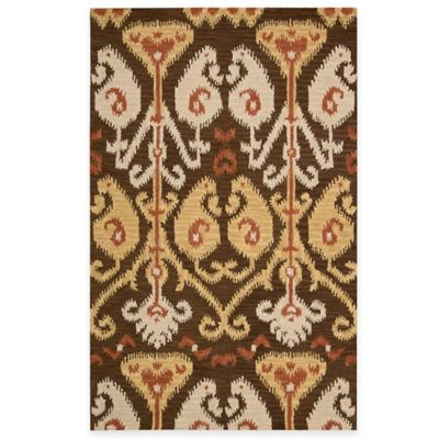 Nourison Siam 2-Foot 3-Inch x 7-Foot 6-Inch Runner in Chocolate