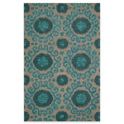 Nourison Siam 3-Foot 5-Inch x 5-Foot 5-Inch Indoor Rug in Grey
