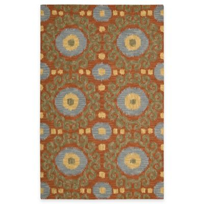 Nourison Siam 2-Foot 3-Inch x 7-Foot 6-Inch Runner in Rust