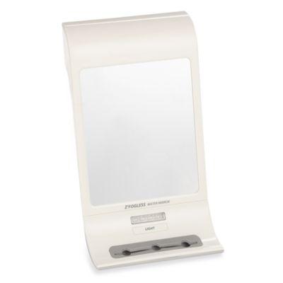White Shower Mirror