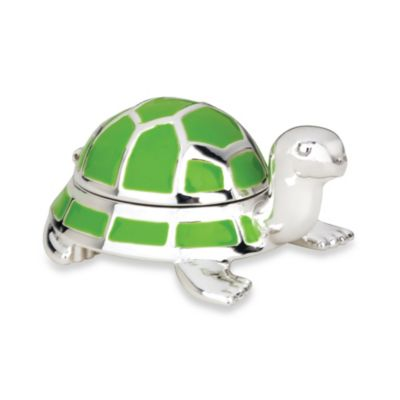 Reed & Barton® Jungle Parade Turtle Tooth Fairy Box