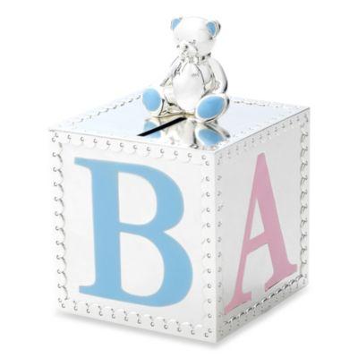 Reed & Barton® Gingham Bear Bank
