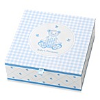 Reed & Barton® Gingham Bear Treasure Box with 4 Covered Compartments