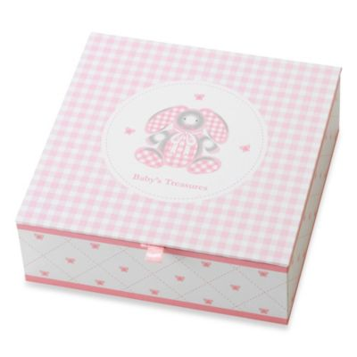 Reed & Barton® Gingham Bunny Treasure Box with 4 Covered Compartments