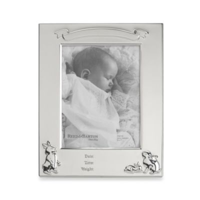 Reed & Barton® Bunny Birth Record 5-Inch x 7-Inch Picture Frame
