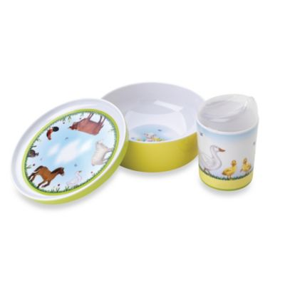 Reed & Barton® Farmyard Friends 3-Piece Mealtime Set
