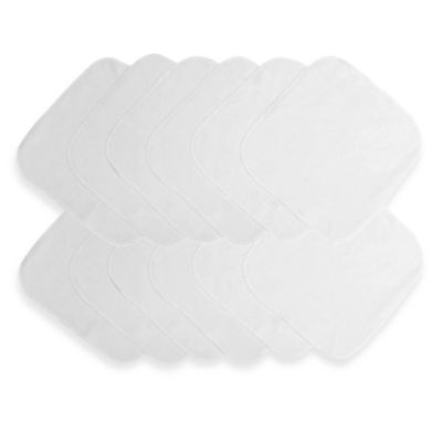 Neat Solutions® 12-Pack Solid White Washcloth Set