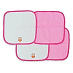 Neat Solutions® Owl 4-Pack Washcloth Set