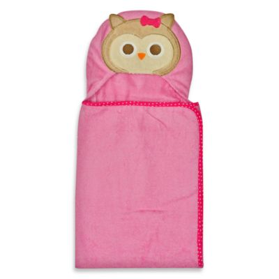 Neat Solutions® 100% Cotton Hooded Towel in Pink Owl