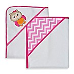 Neat Solutions® 2-Pack Knit Terry Hooded Towel Set in Owl