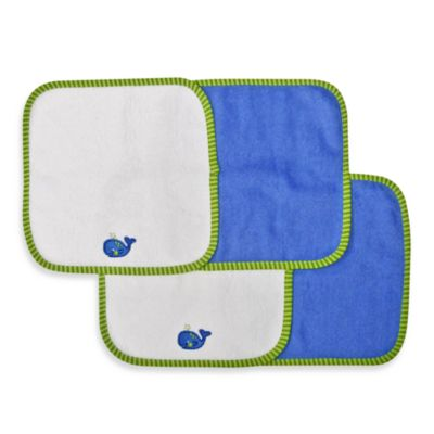 Neat Solutions® Whale 4-Pack Washcloth Set