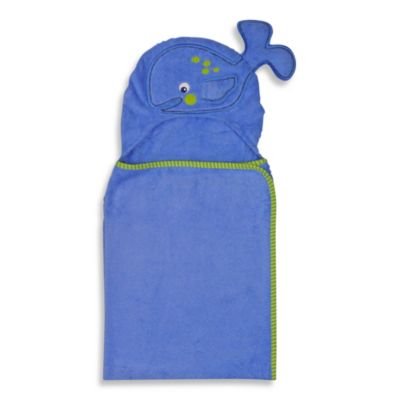 Neat Solutions® 100% Cotton Hooded Towel in Blue Whale
