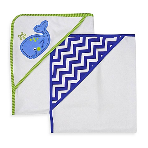 Neat Solutions® 2-Pack Knit Terry Hooded Towel Set in Whale